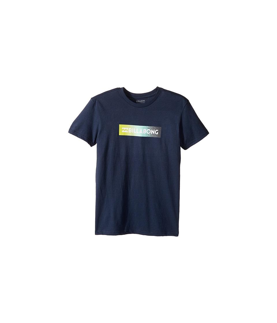 Billabong Kids Unity Block T-Shirt (Big Kids) (Navy) Boy