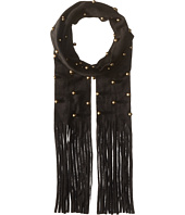 Steve Madden - Bauble Studded Faux Suede Skinny Scarf