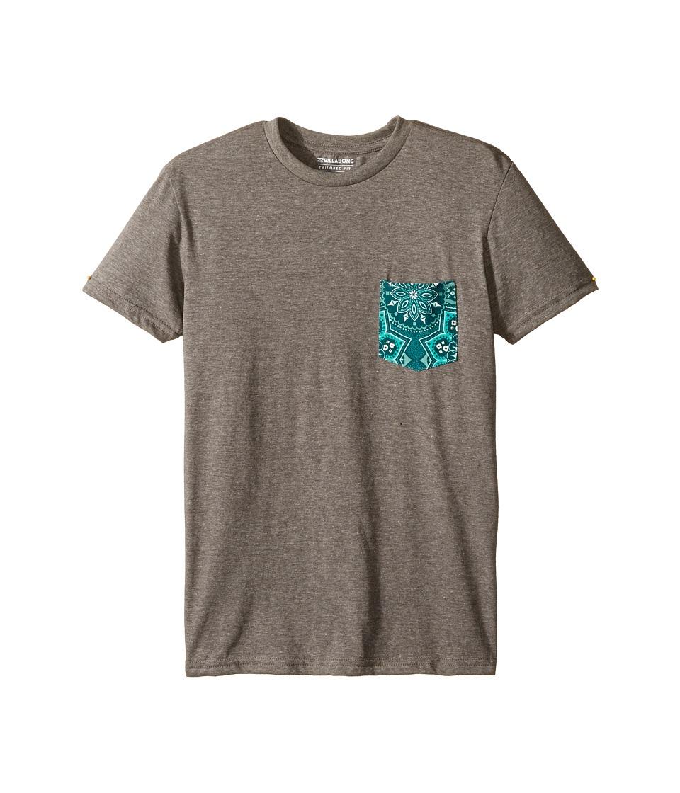 Billabong Kids Team Pocket T-Shirt (Big Kids) (Dark Grey Heather 2) Boy