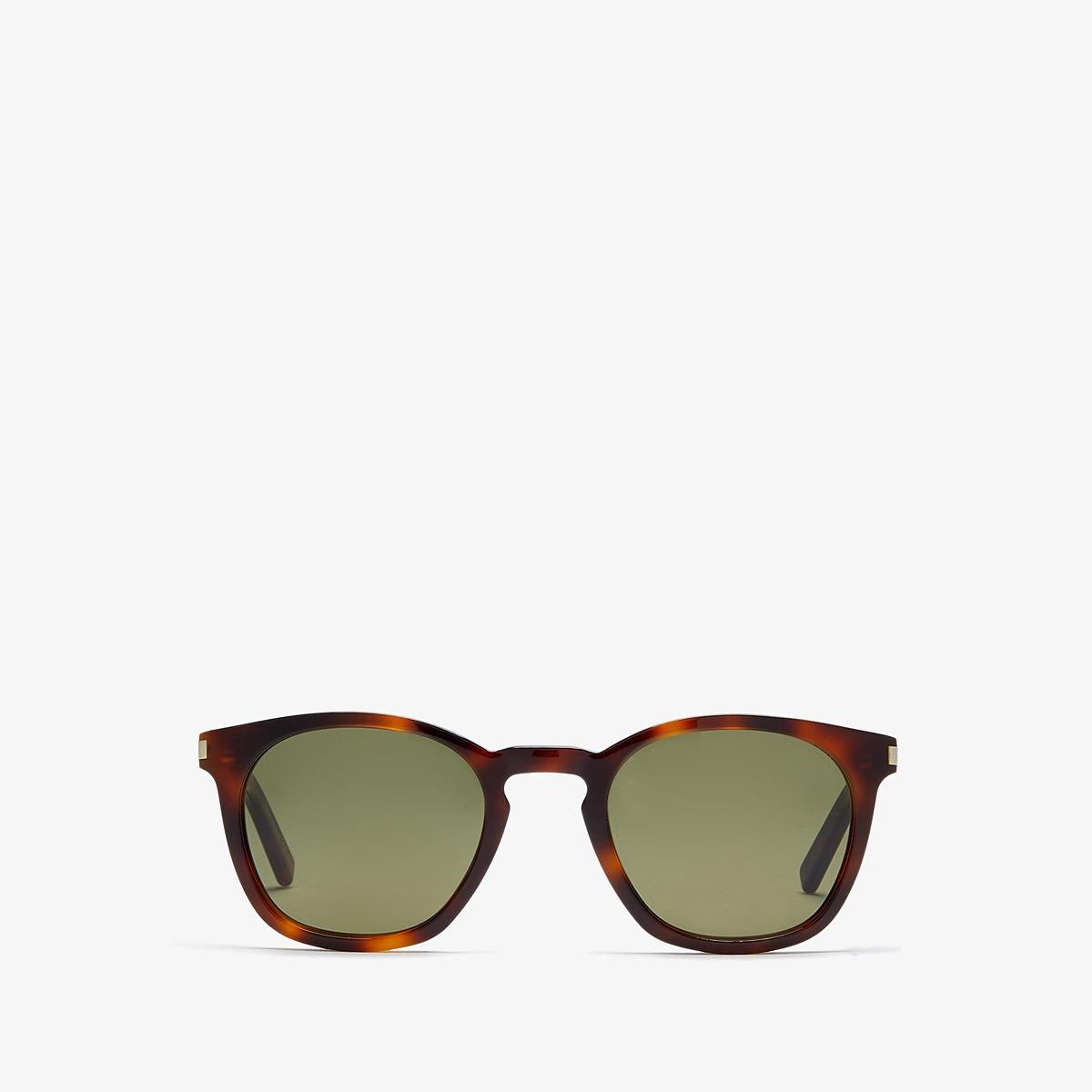 Saint Laurent - SL 28 (Light Havana/Green) Fashion Sunglasses