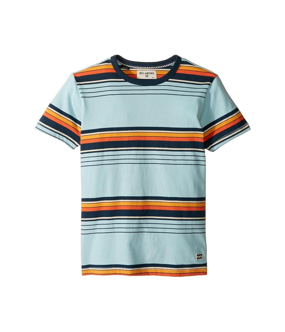 Billabong Kids - Oscar Short Sleeve Crew (Big Kids) (Coastal) Boys Short Sleeve Pullover
