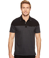 Calvin Klein - Short Sleeve Feeder Stripe Jersey Blocked Polo