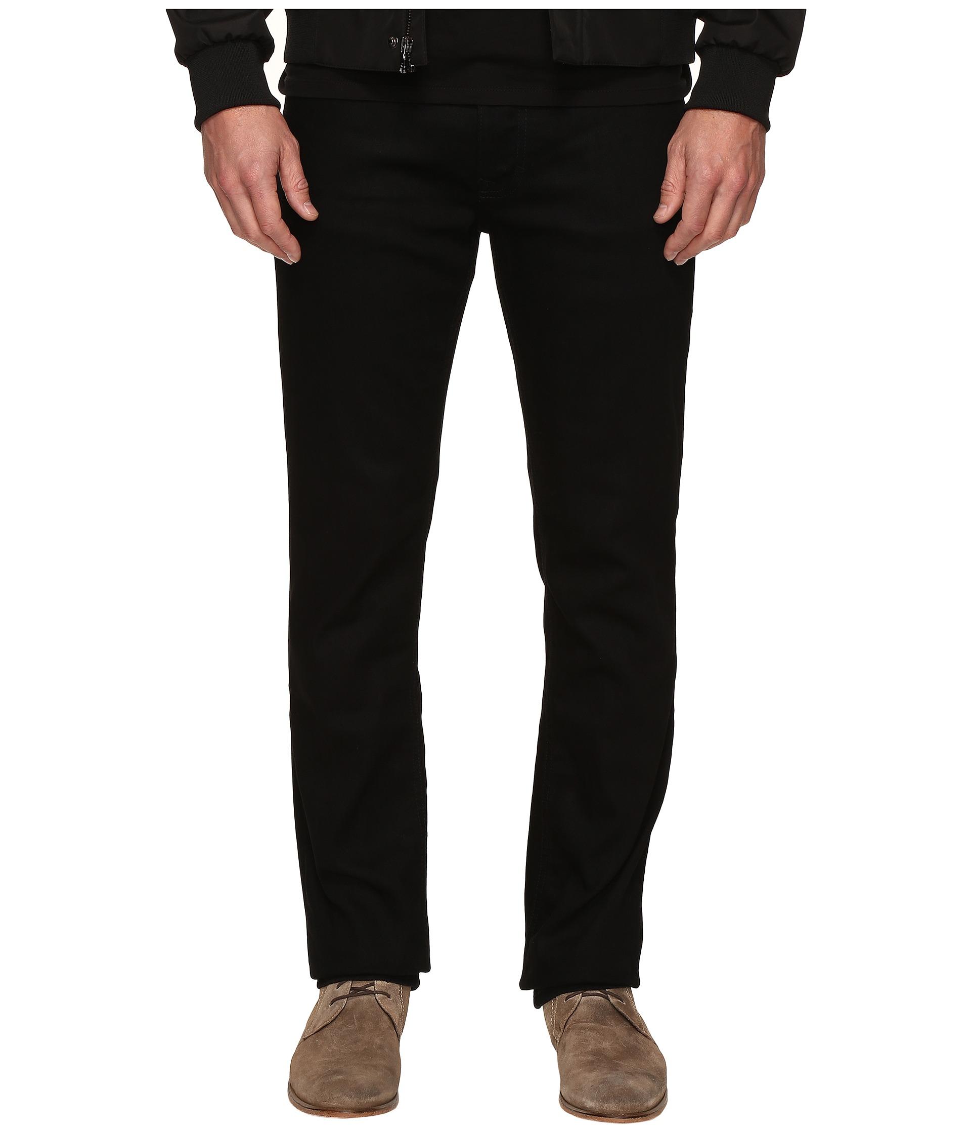 calvin klein jeans slim straight jeans in clean black wash. Black Bedroom Furniture Sets. Home Design Ideas
