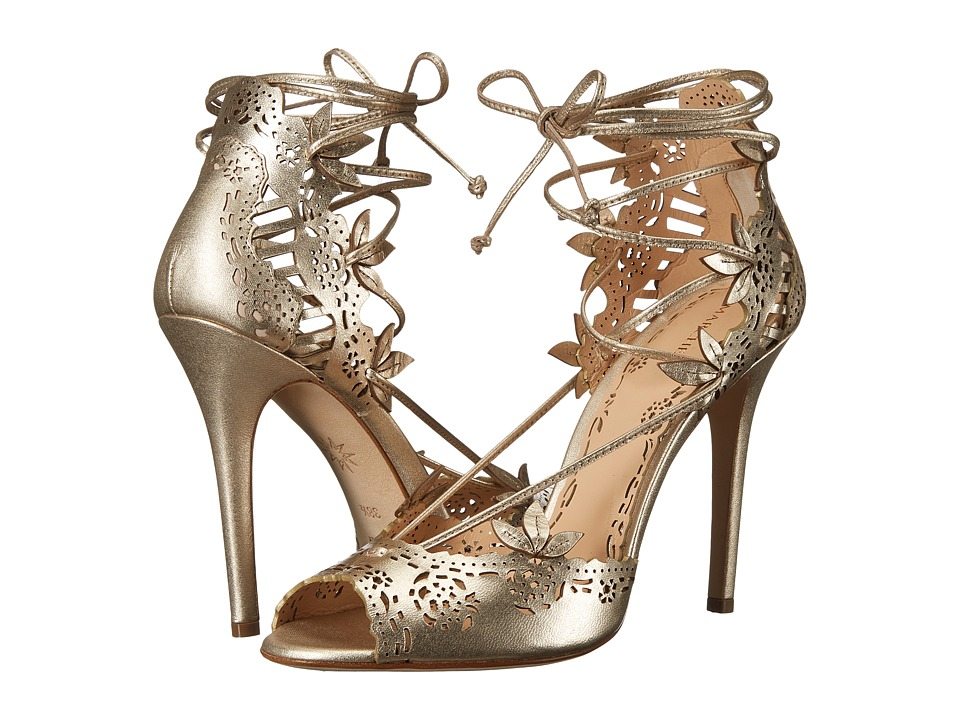 Marchesa Clara (Gold Nappa Leather) High Heels