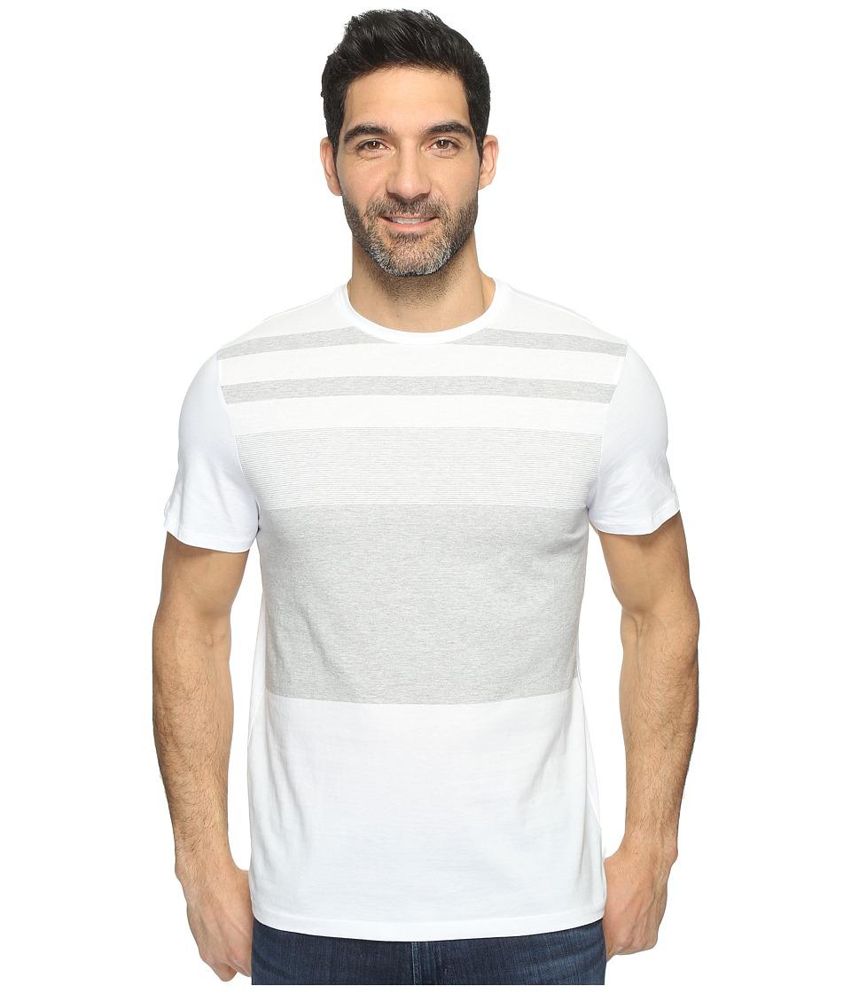 Calvin Klein Pima Cotton Stripe Tee (White Wash) Men