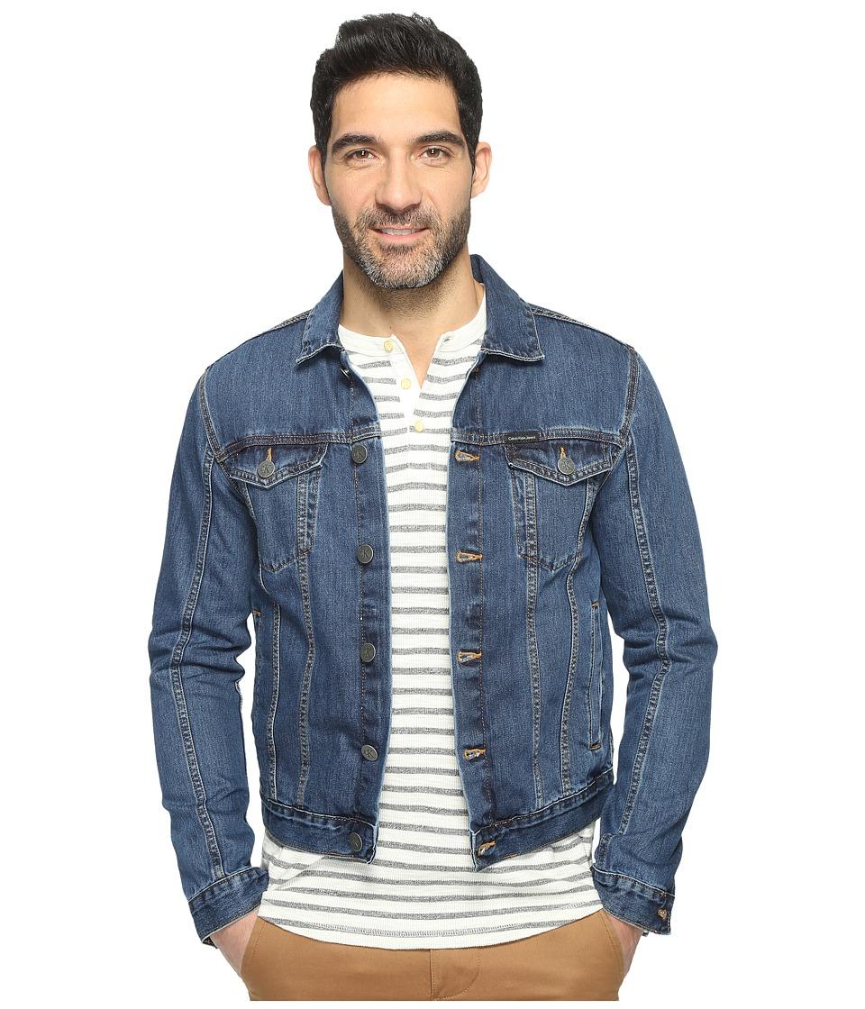 Calvin Klein Jeans Medium Wash Trucker Jacket (Medium) Men