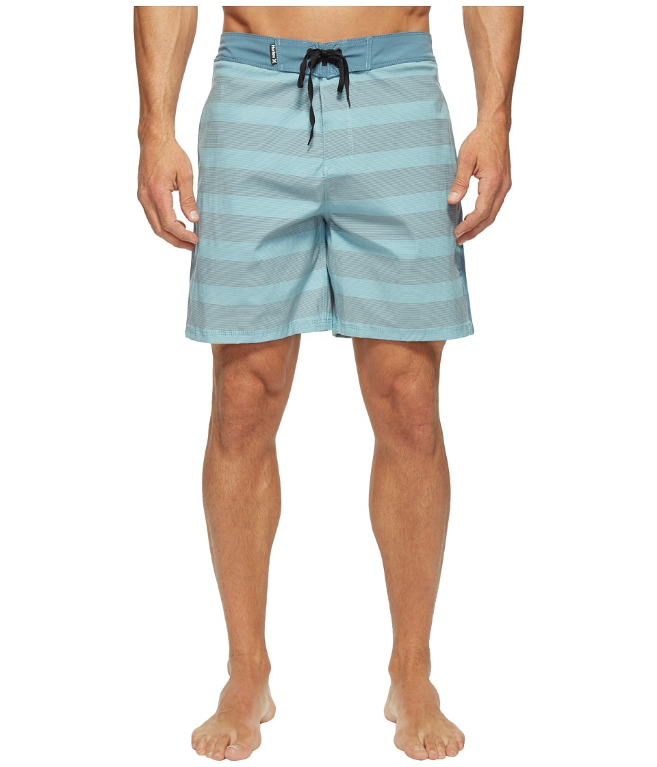 Hurley Beachside Windsor 18 Boardshorts (Smokey Blue) Men