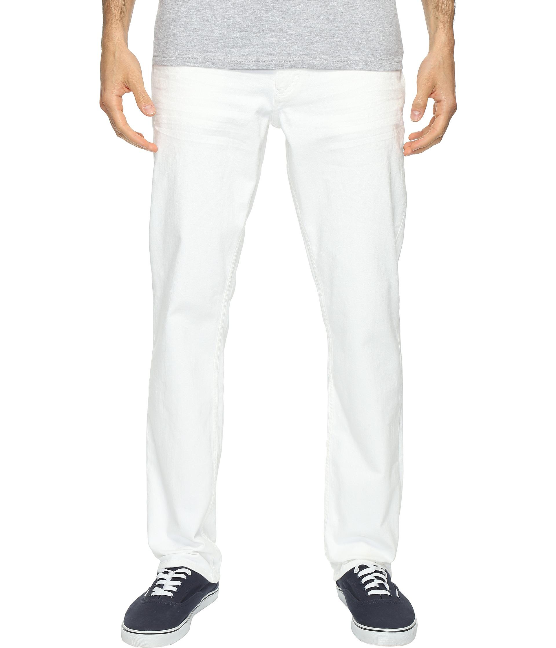 calvin klein jeans slim straight jeans in white wash white. Black Bedroom Furniture Sets. Home Design Ideas