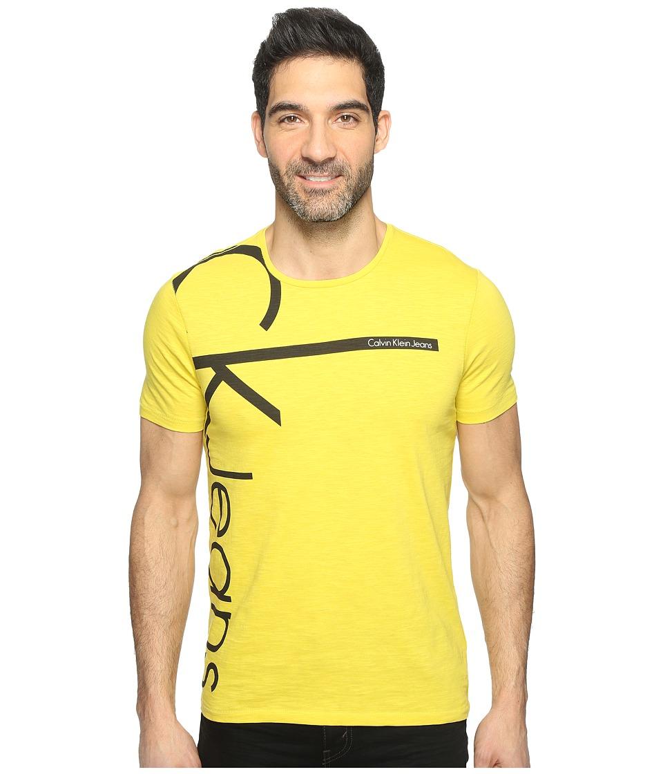 Calvin Klein Jeans Vertical Logo Tee (Warm Olive) Men