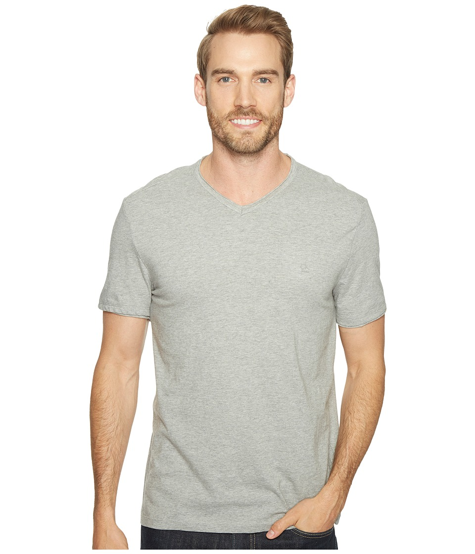 Calvin Klein Jeans Mixed Media V-Neck Tee (Med Charcoal Heather) Men