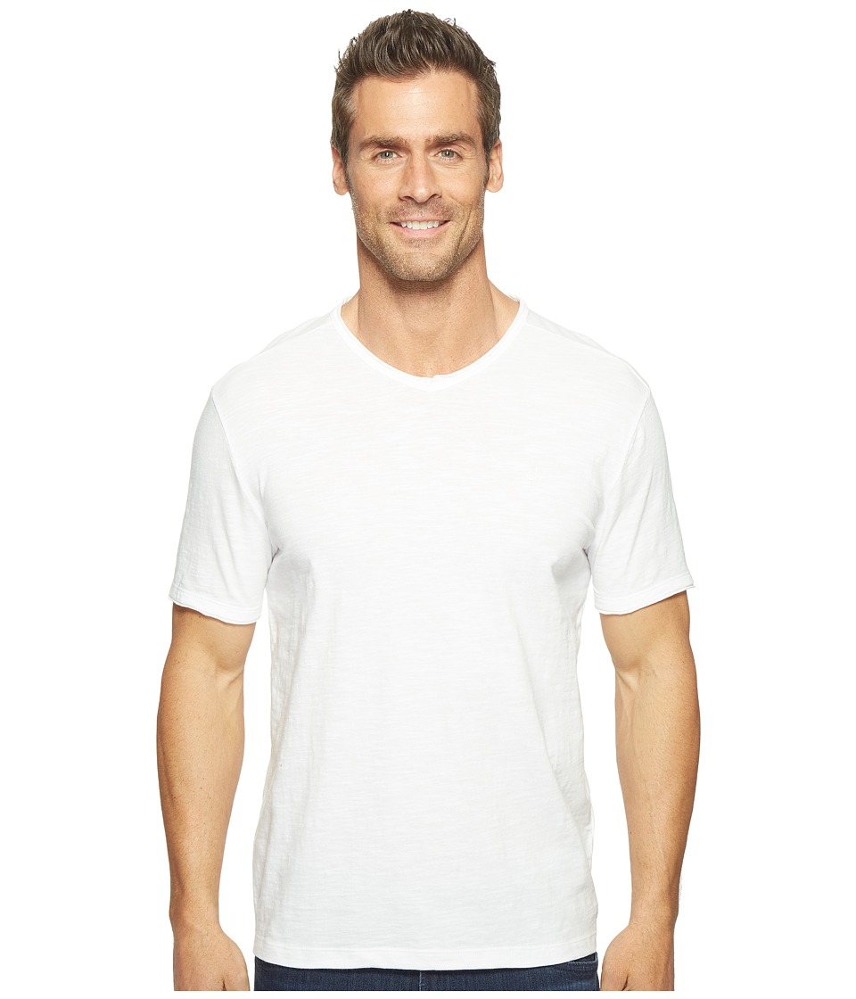 Calvin Klein Jeans Mixed Media V-Neck Tee (White Wash) Men