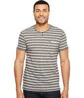 Calvin Klein Jeans - Ecru Stripe Slit Neck Tee