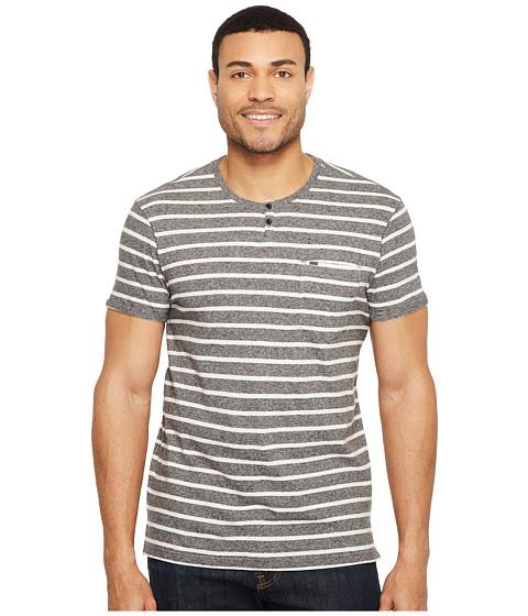 Calvin Klein Jeans Ecru Stripe Slit Neck Tee
