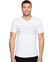 Calvin Klein Jeans - Stripe Calvin Logo V-Neck Tee