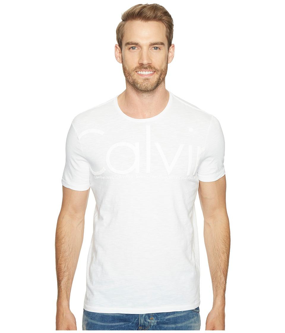 Calvin Klein Jeans Oversized Calvin Logo Tee (White Wash) Men