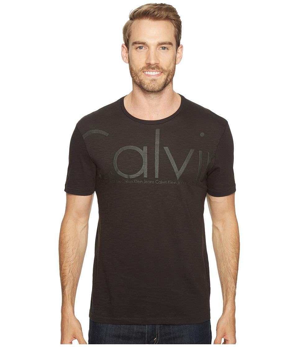 Calvin Klein Jeans Oversized Calvin Logo Tee (Black) Men