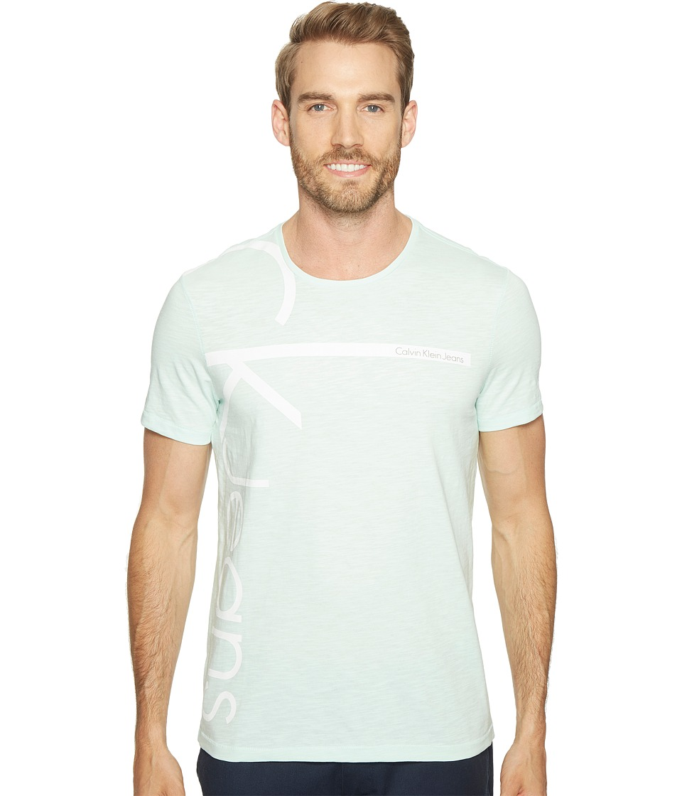 Calvin Klein Jeans Vertical Logo Tee (Minty Glow) Men
