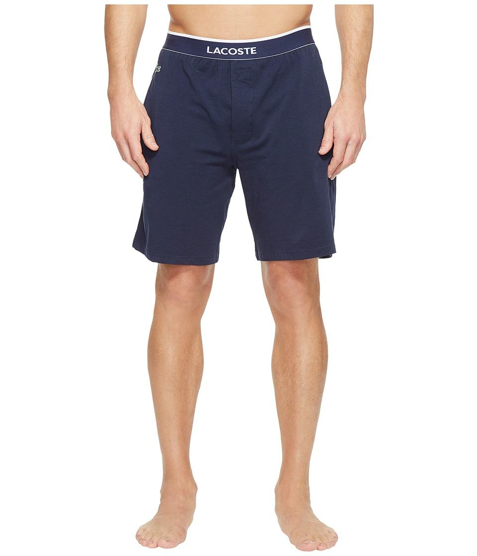 Lacoste Colours Sleep Shorts (Navy) Men