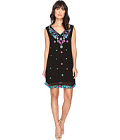 Nicole Miller - La Plage by Nicole Miller Aztec Embroidery Dress Cover-Up