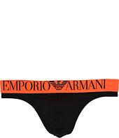 Emporio Armani - Fluo Piping Microfiber Thong