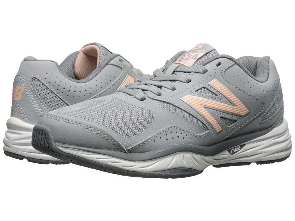 New Balance - WX824v1 (Gray/Guava) Womens Running Shoes
