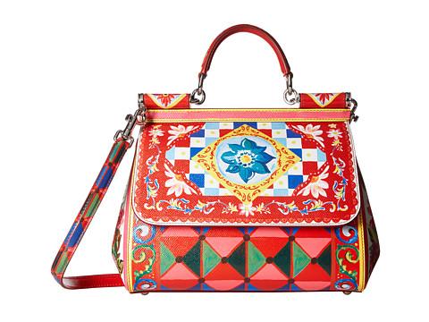 Dolce & Gabbana Printed Leather Miss Sicily Medium