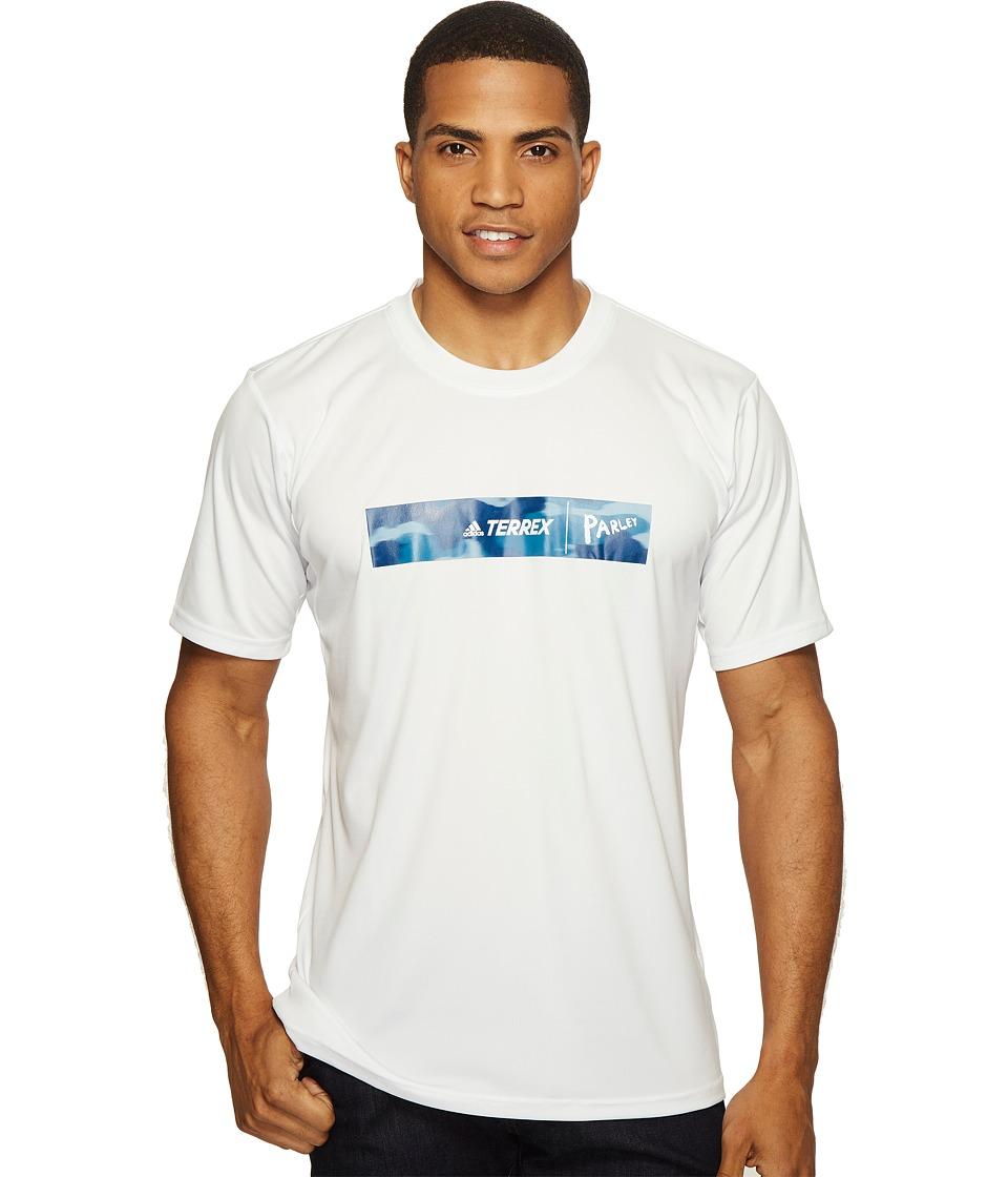 adidas Outdoor Parley Logo Tee (White) Men