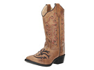 Old West Kids Boots - Inlay Toe Leatherette Boot (Toddler/Little Kid)