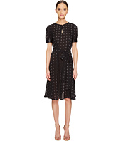 THOMAS WYLDE - Alyssum Silk Georgette Printed Short Sleeve Dress
