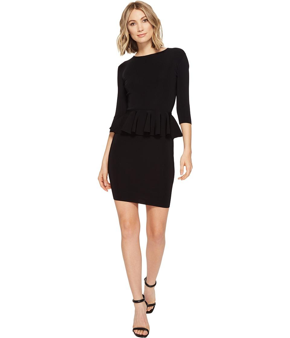 Ted Baker Jamnie Peplum Knitted Dress (Black) Women