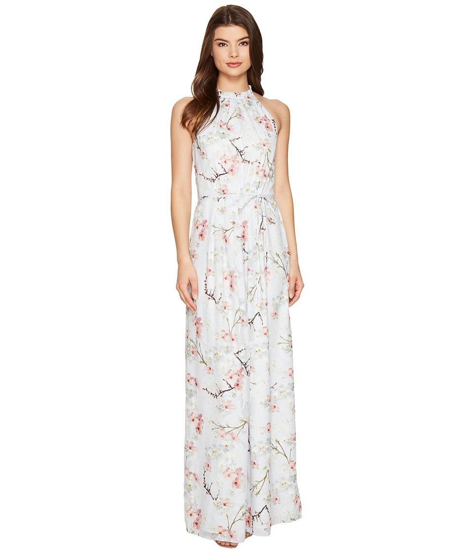 Ted Baker Elynor Oriental Blossom Maxi Dress (Light Grey) Women