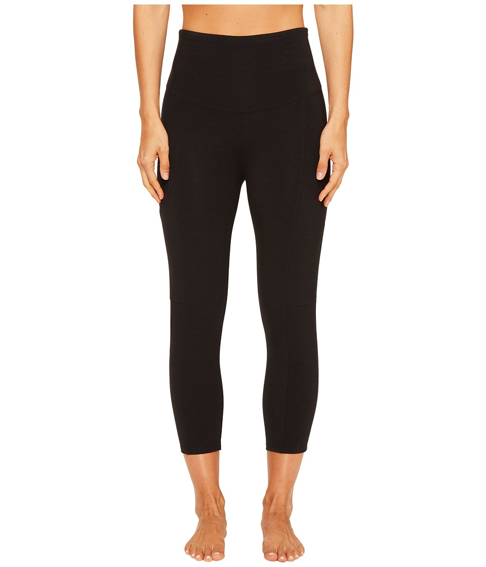 Yummie by Heather Thomson Cotton Control 3/4 Leggings with Side Pocket (Black) Women