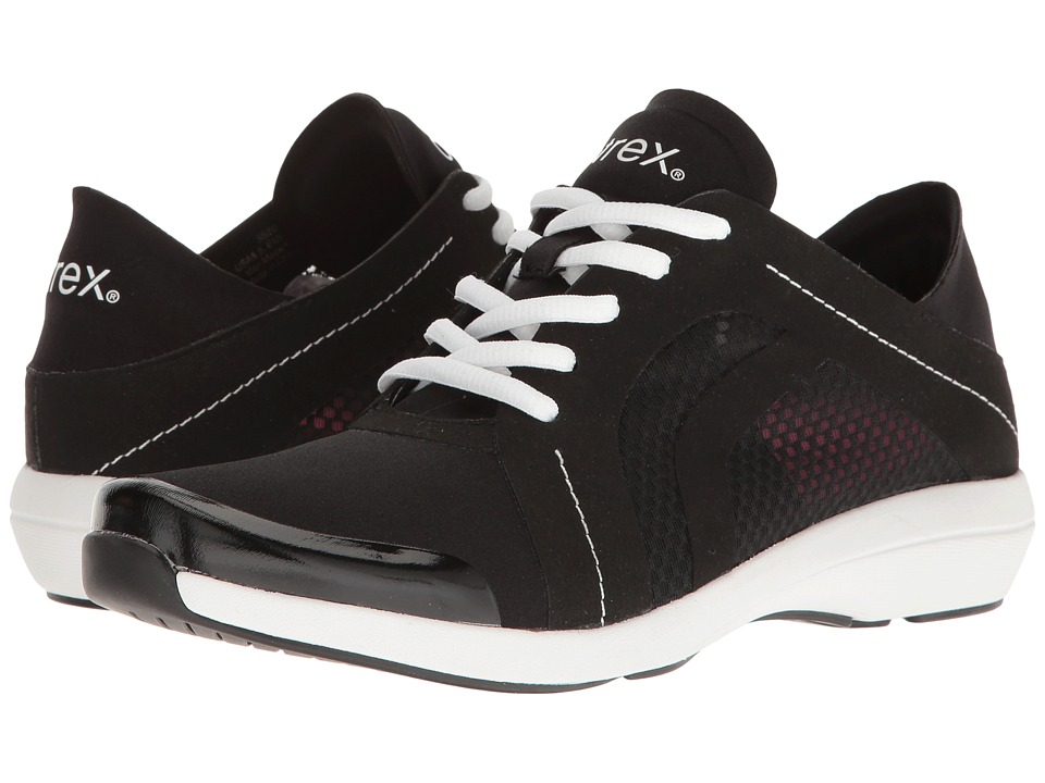 Aetrex - Berries Fashion Sneakers (Black) Womens Lace up casual Shoes