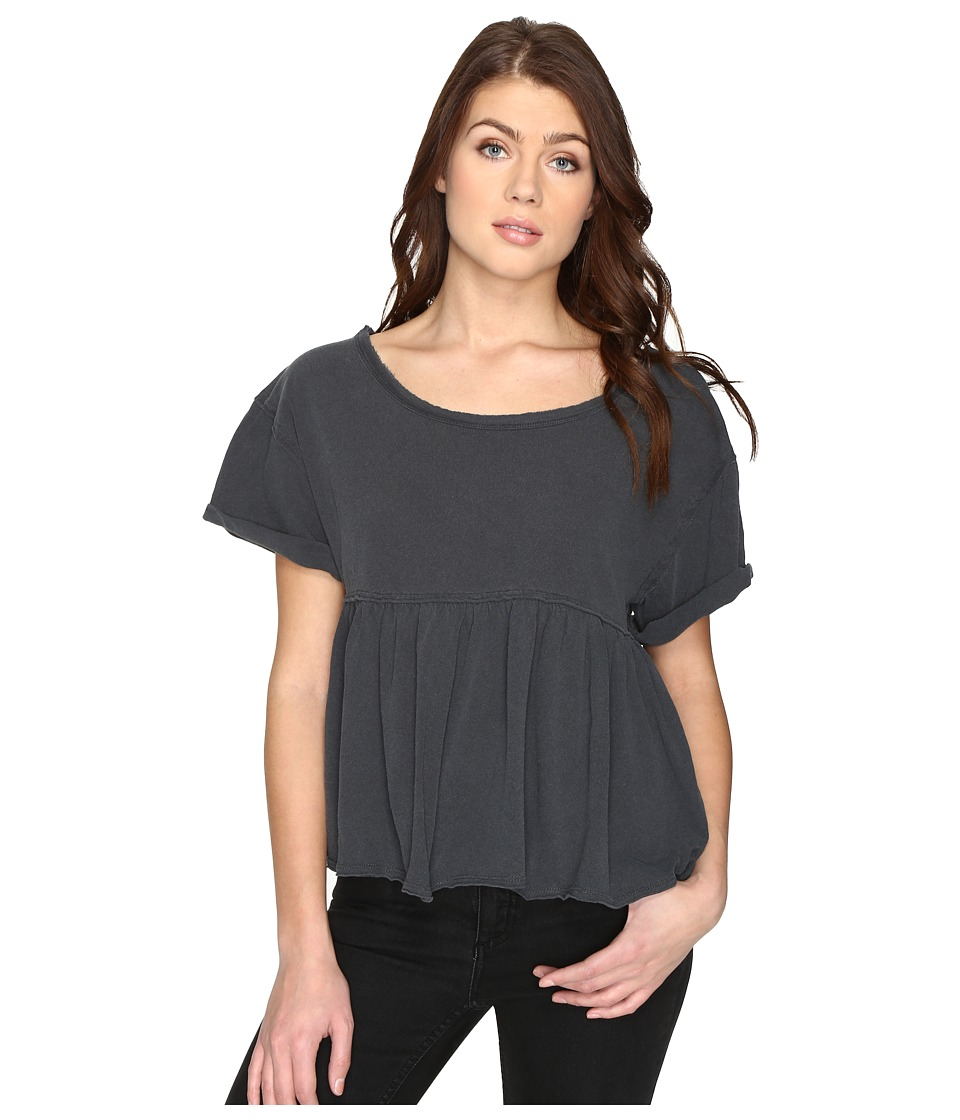 Free People Odyssey Tee (Black) Women
