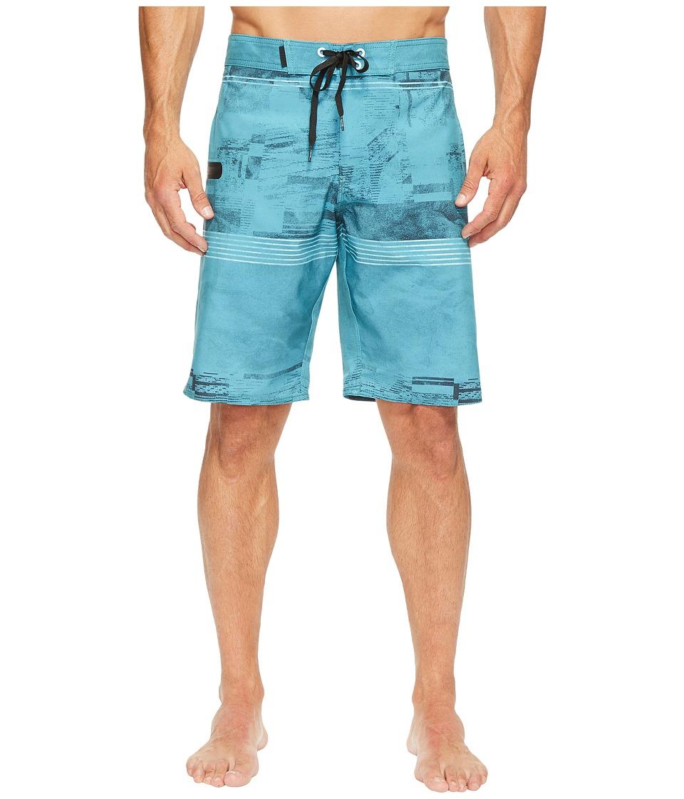 Tavik Filter Boardshorts (Ocean Green Glitch Stripe) Men