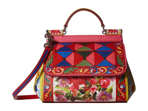 Dolce & Gabbana Printed Leather Miss Sicily Mini Bag