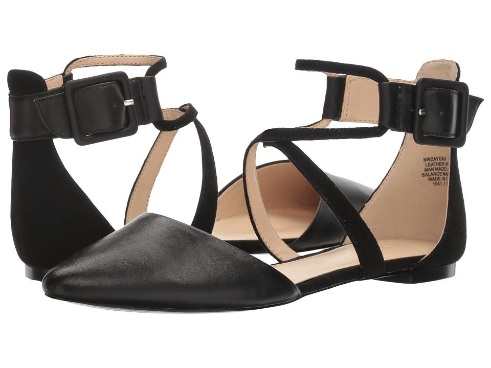 Nine West - Zaydah (Black Kid Leather/Black Suede) Womens Shoes