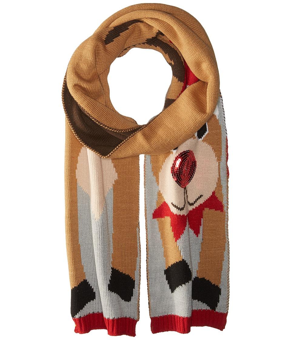 San Diego Hat Company - BSS1691 Reindeer Scarf (Brown) Scarves