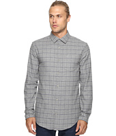 Original Penguin - Long Sleeve Heathered Windowpane Woven Shirt