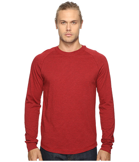 Original Penguin New Bada Long Sleeve Tee - Red Dahlia