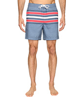 Original Penguin - Engineered Stripe Print Swim Shorts