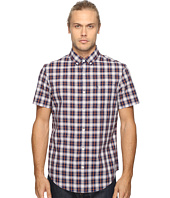 Original Penguin - Short Sleeve Slub P55 Plaid Woven Shirt