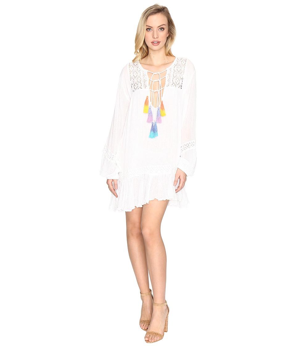 Jens Pirate Booty - Malva Dress (White/Multi-Tassel) Womens Dress