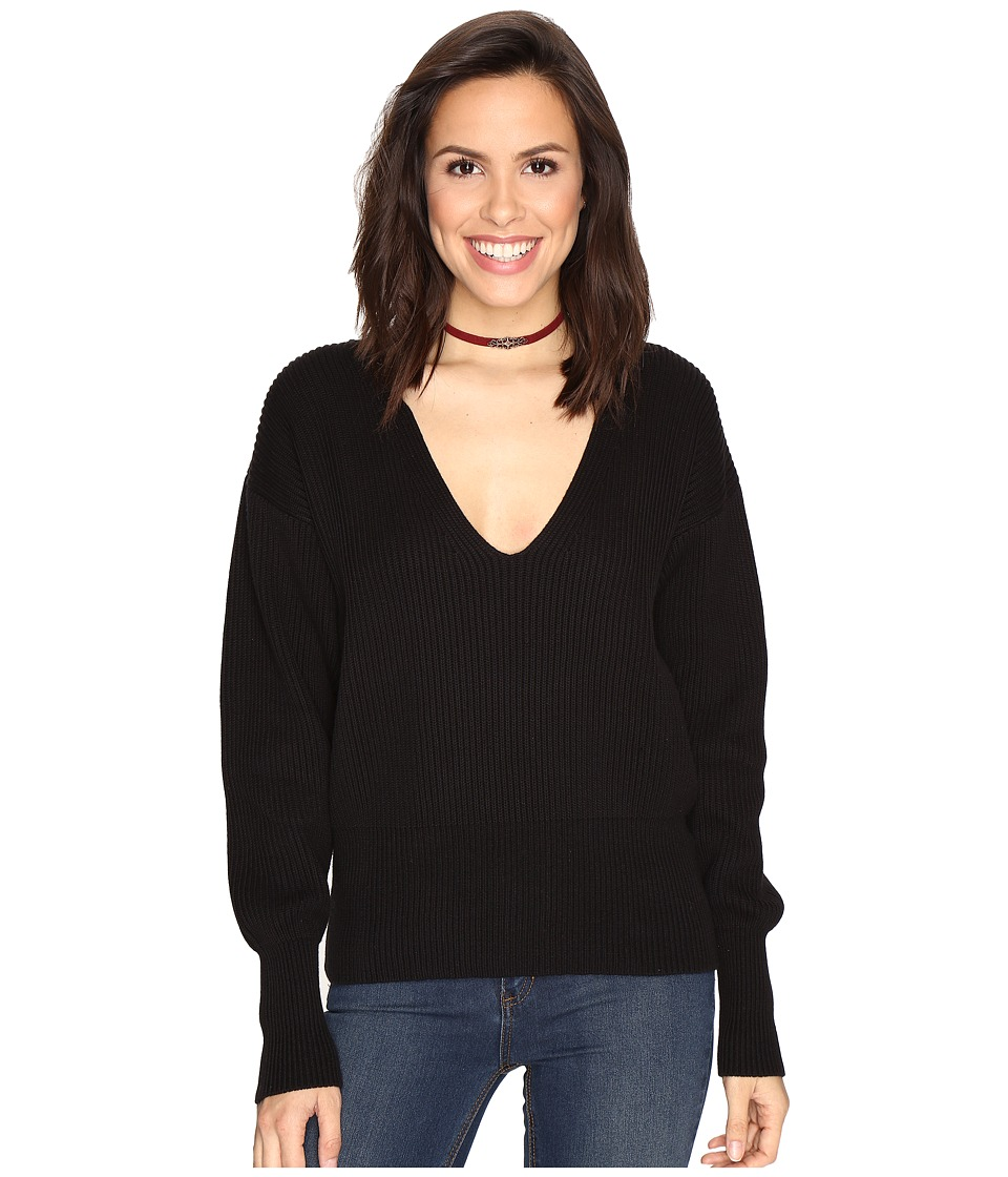 Free People Allure Pullover (Black) Women