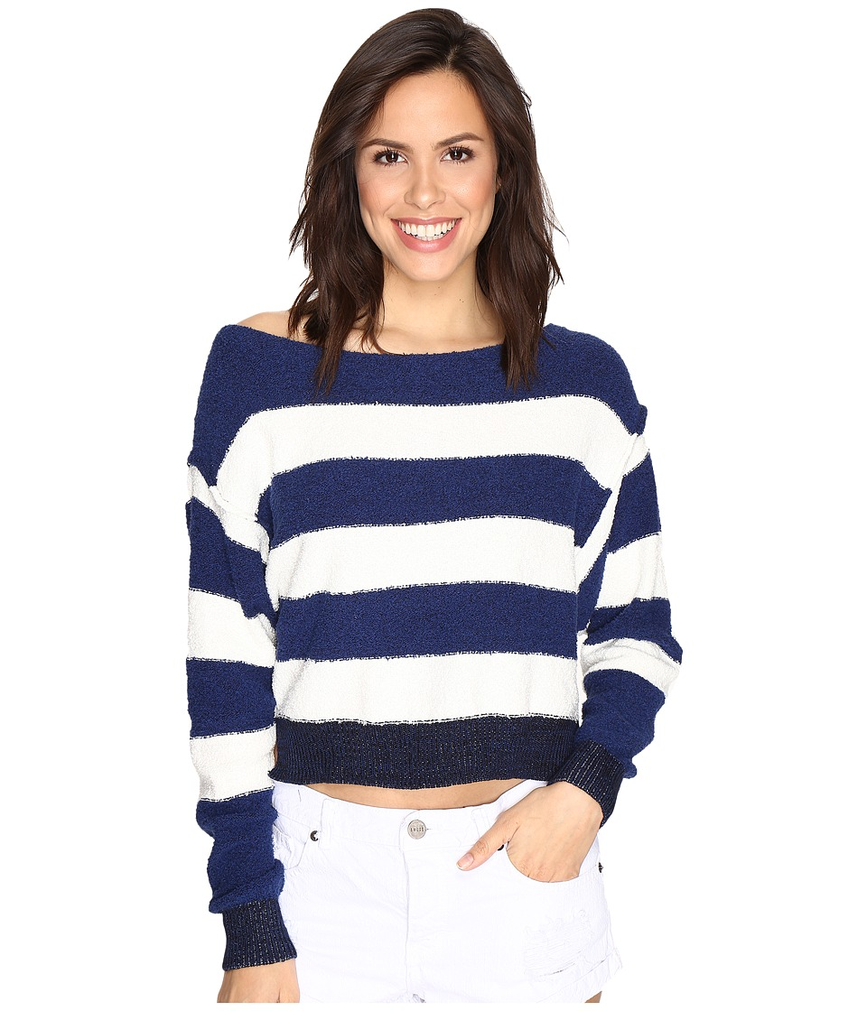Free People Candyland Pullover (Navy) Women