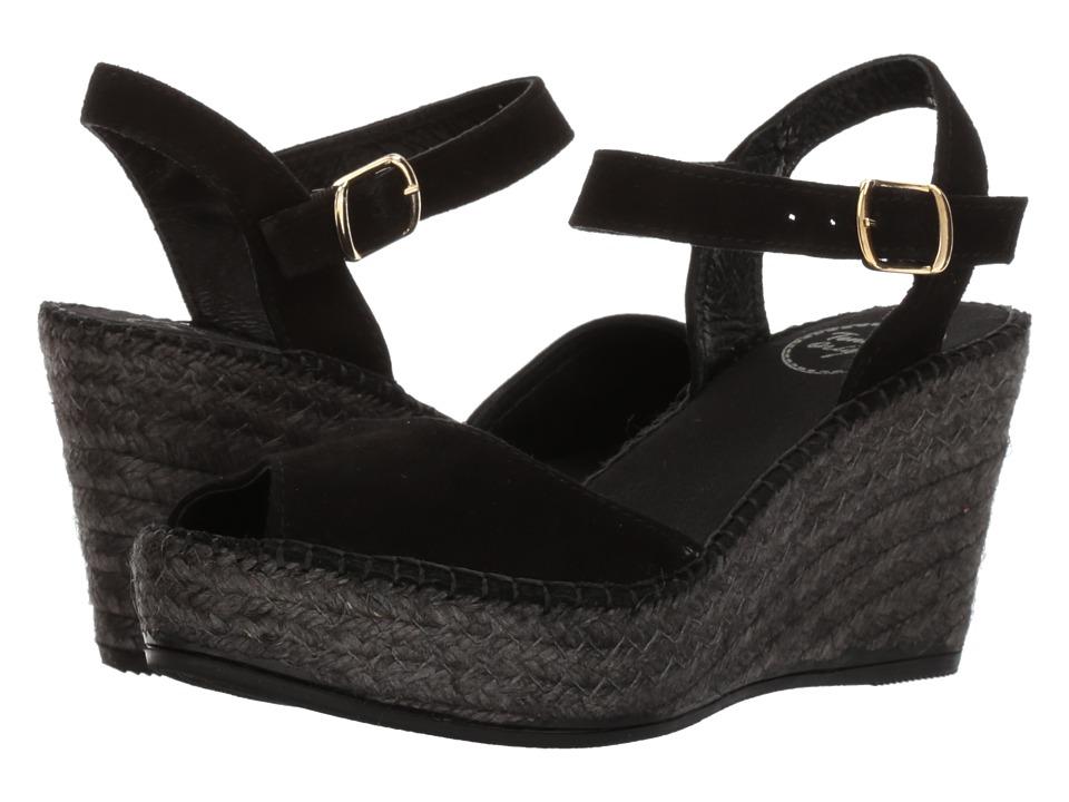 Toni Pons - Laura (Black Suede) Womens  Shoes