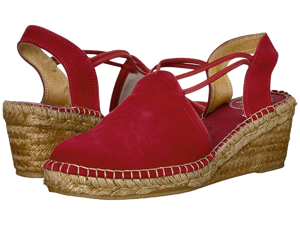 1950s Style Shoes Toni Pons - Tremp Red Suede Womens  Shoes $125.00 AT vintagedancer.com
