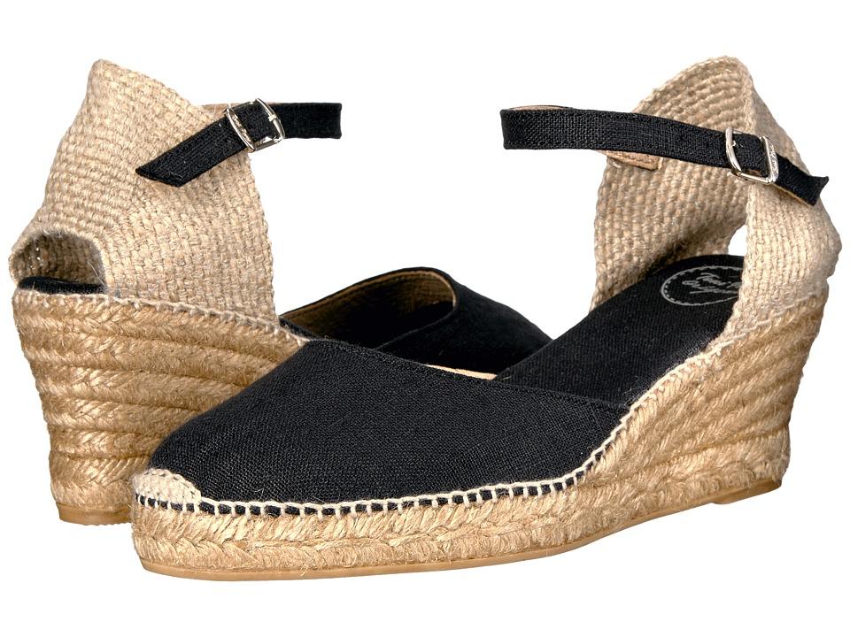 Toni Pons - Caldes (Black Linen) Womens  Shoes