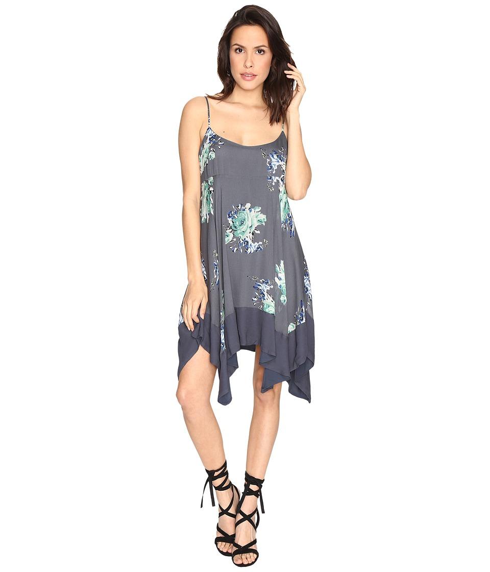 Free People Faded Bloom Mini Dress (Black Combo) Women
