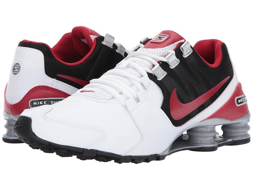 Nike Shox Avenue Leather (White/Gym Red/Black/Metallic Silver) Men